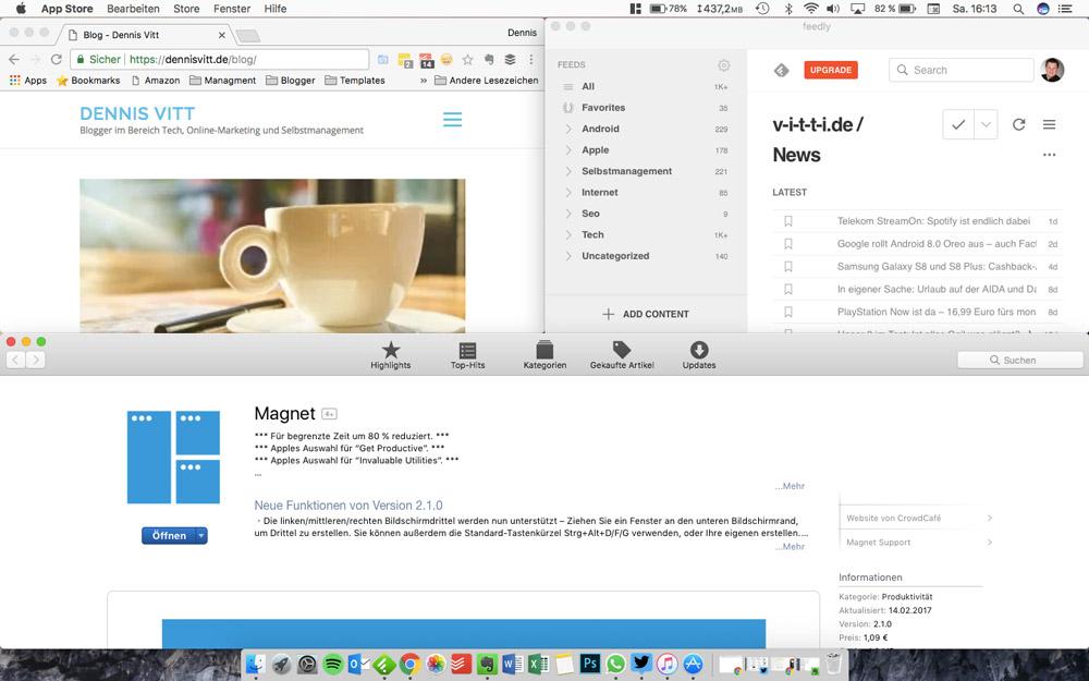Magnet - Fensterverwaltungstool für MacOS